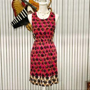Rachel Rachel Roy Pink Leaf Print Racerback Dress